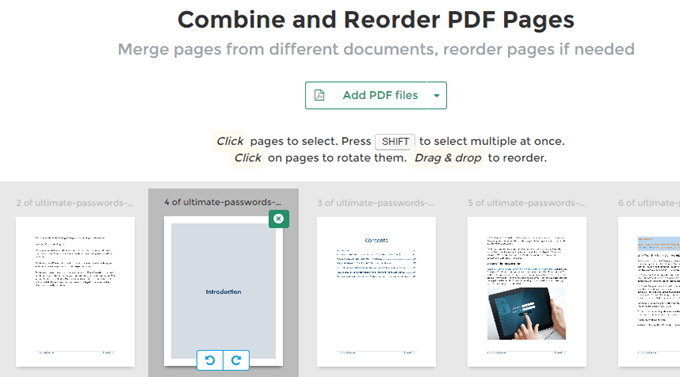 Reorder PDF Pages Online