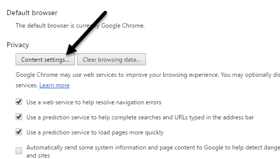 google chrome is your default browser