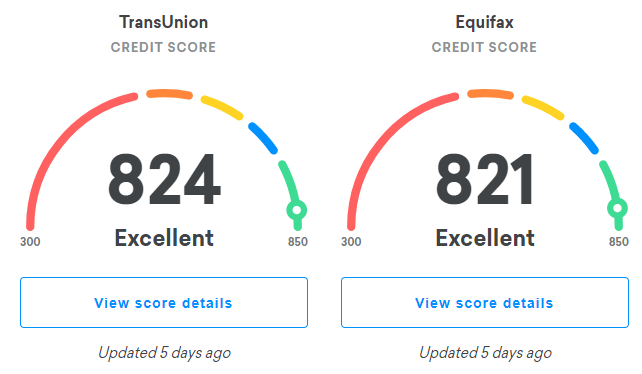 Updating credit score quickly