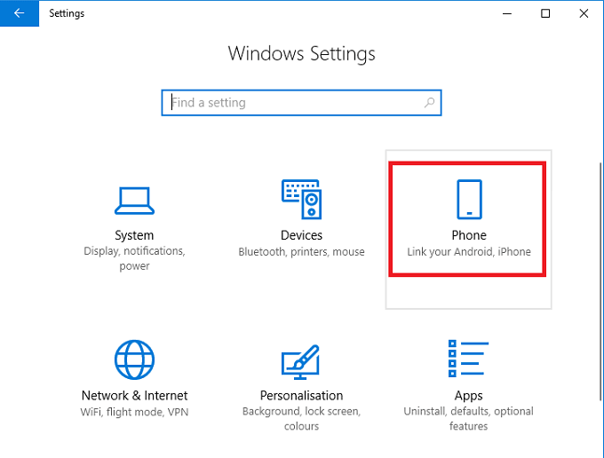 how to search pc windows 10